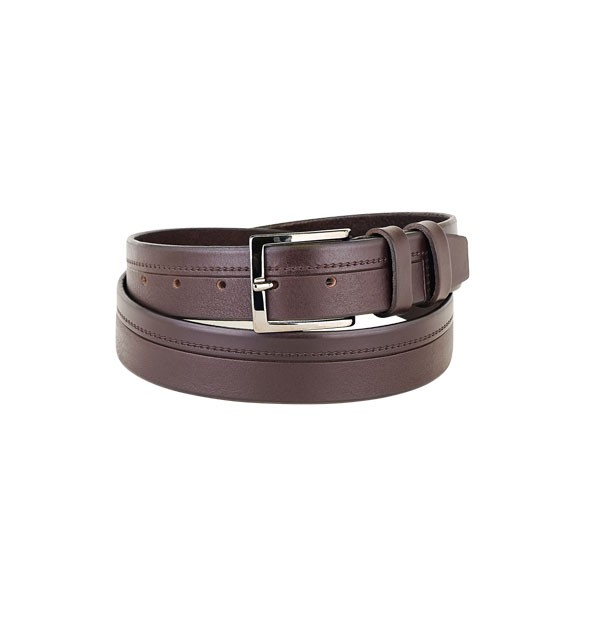 "Man belt made in real leather ""vegetable tanned"" - Bull Leather embossed - Sporty Line - mm. 35"