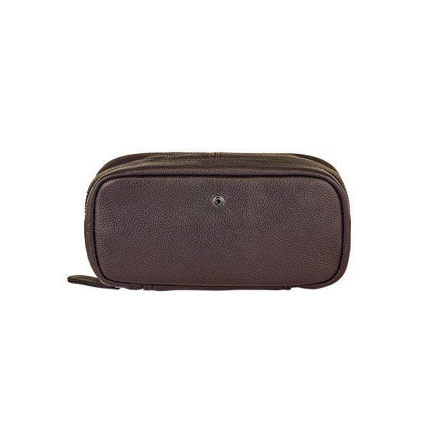 Pen and stationery case in genuine leather