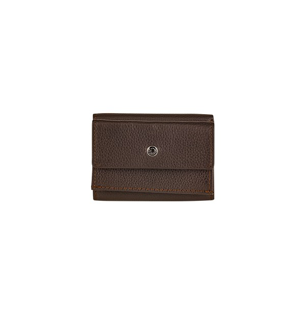 3-sided women's mini wallet with coin purse in genuine leather