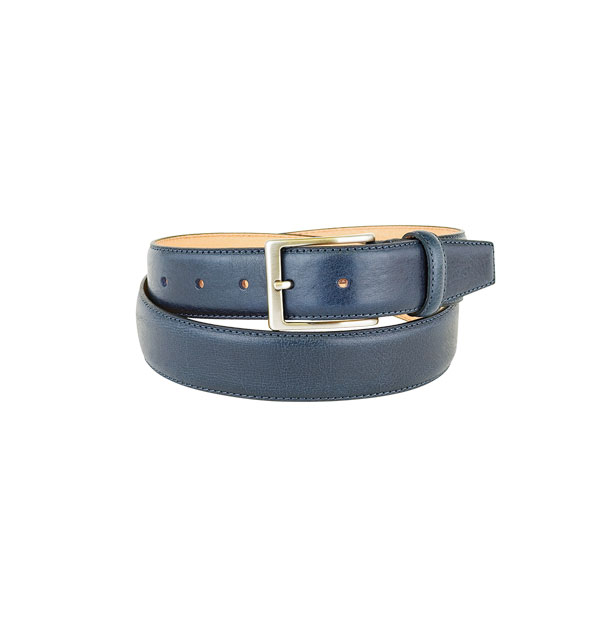 "Man belt made in real leather ""vegetable tanned"" - mm. 35"