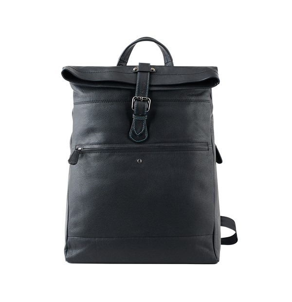 Unisex sports backpack in genuine leather