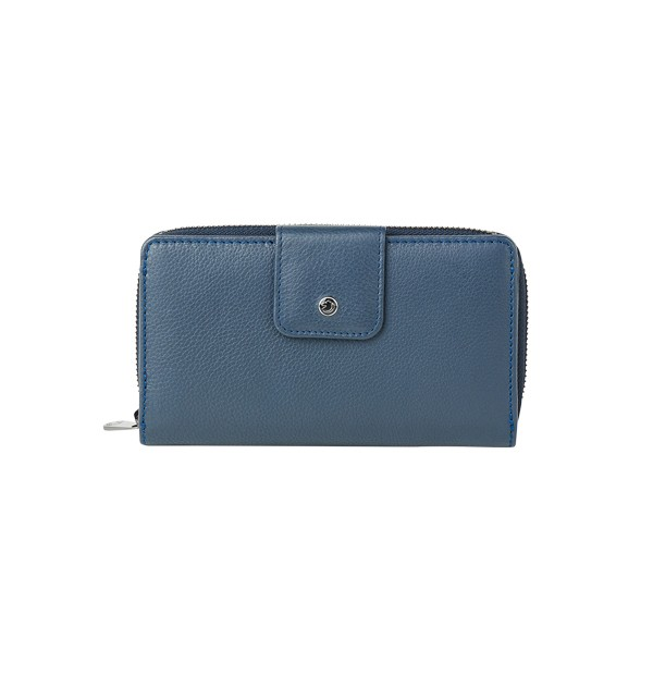 Women's wallet with double compartment - external coin purse