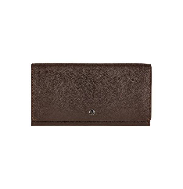 Woman wallet with coin purse in genuine leather