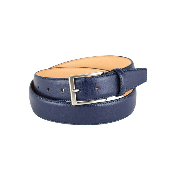 "Man belt made in real leather Saffiano ""vegetable tanned"" - mm. 35"
